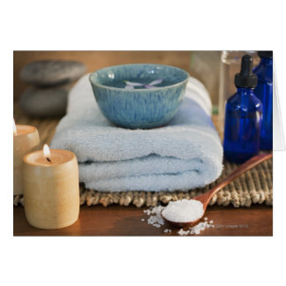 Spa still life greeting card