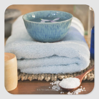 Spa still life square sticker