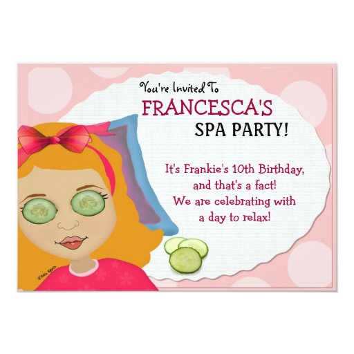 Spa-tacular Party  Kids Invitation
