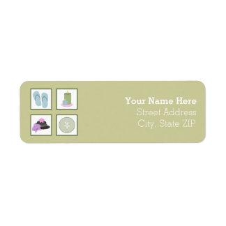 Spa Theme Address Label