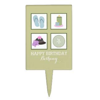 Spa Theme Birthday Party Cake Pick