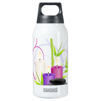 Spa theme insulated water bottle