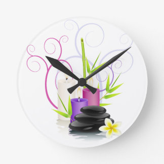 Spa theme round clock