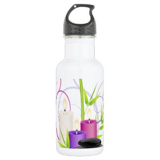 Spa theme water bottle