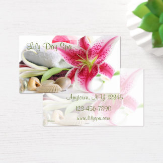 Spa Themed Business Card