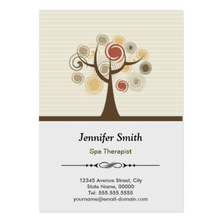 Spa Therapist Appointment - Elegant Natural Large Business Cards (Pack Of 100)