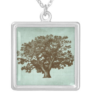 Spa Tree IV Silver Plated Necklace