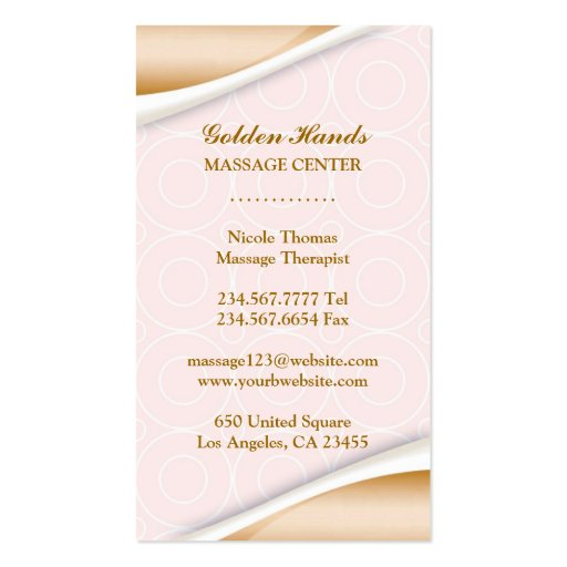 Spa w/Appointment Business Card