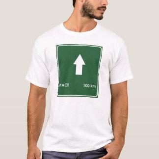 Space 100 Kilometers Highway Sign T-Shirt