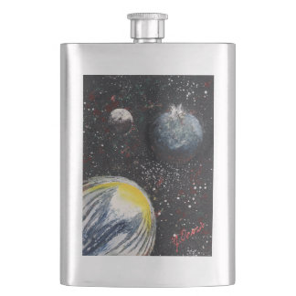 SPACE 11 (an outer space design) ~ Hip Flask