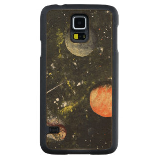 SPACE 17 (an outerspace design) ~ Carved® Maple Galaxy S5 Slim Case