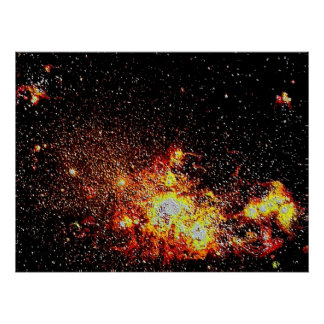 Space 1 enamel poster