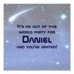 """Space 5.25"""" Square Invitation Card"""