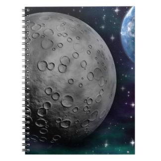 space-681638 FANTASY SPACE GALAXY ALIEN WORLDS SCI Spiral Note Books