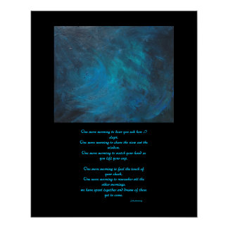 """""""Space"""" Abstract Painting and Love Poetry Poster"""