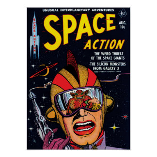 Space Action #2 Poster