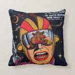 Space Action #2 Throw Pillows