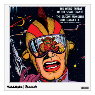 Space Action #2 Vintage Sci Fi Comic Book Cover Wall Decal