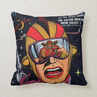 Space Action #2 Vintage Sci Fi Comic Book Pillow