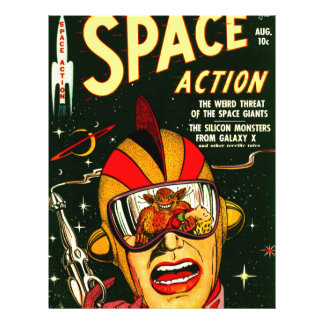 Space Action: Eek!  A Monster! Letterhead