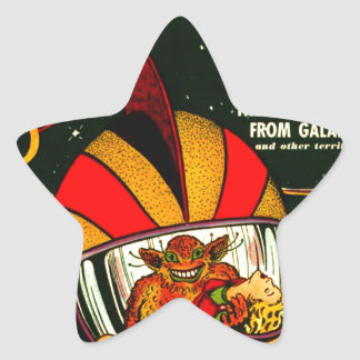 Space Action: Eek!  A Monster! Star Sticker