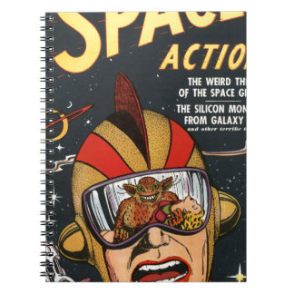 Space Action Spiral Notebook