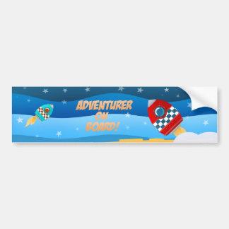 Space adventure - bumper sticker