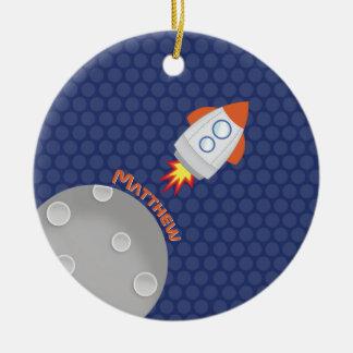 Space Adventure Ceramic Ornament