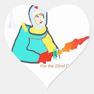 Space Adventure Heart Sticker
