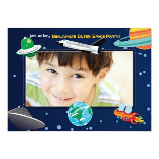 Space Adventure Photo Invitation