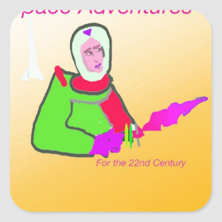 Space Adventure Square Sticker