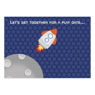 Space Adventure This spaceship design is out of th Large Business Card