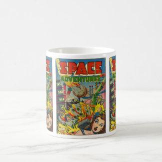 Space Adventurers Comic Book Coffee Mug