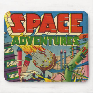 Space Adventurers Comic Book Mouse Pad
