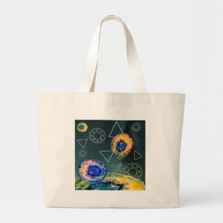 Space Agate Large Tote Bag