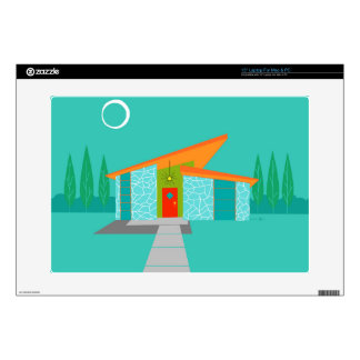 Space Age Cartoon House Laptop Skin