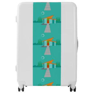 Space Age Cartoon House Luggage Suitcase