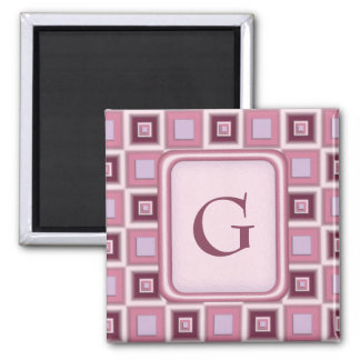 Space Age Checkerboard 2 Inch Square Magnet
