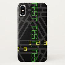 Space Age Futuristic Test Pattern Design iPhone X Case