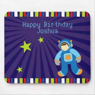 Space Age Happy Birthday Mousepad