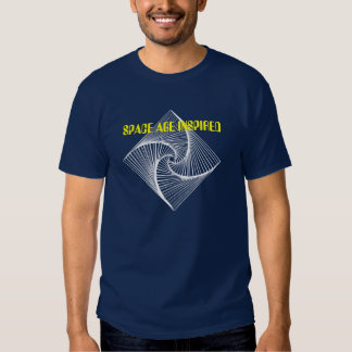 Space age inspired spiral T shirt