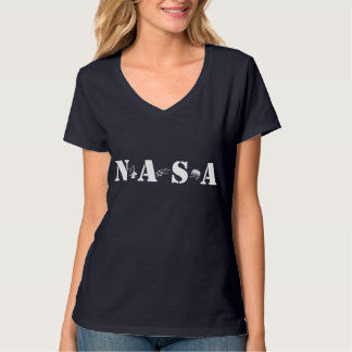 Space Age NASA Navy Blue Tee Shirt Atomic Era