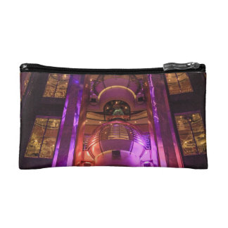 Space Age Pink Purple Cosmetic Bag