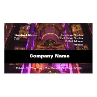 Space Age Pink Purple Business Card