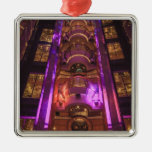 Space Age Pink Purple Christmas Tree Ornament