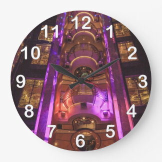Space Age Pink Purple Wall Clock