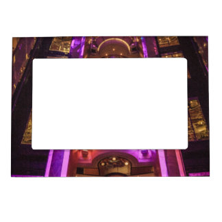 Space Age Pink Purple Magnetic Picture Frame