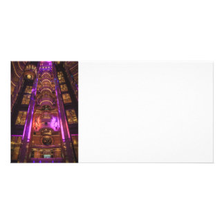 Space Age Pink Purple Photo Greeting Card