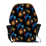 Space Age Retro Multicolored Pattern Courier Bag