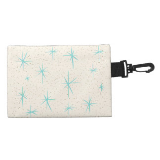 Space Age Turquoise Starbursts Accessory Bag